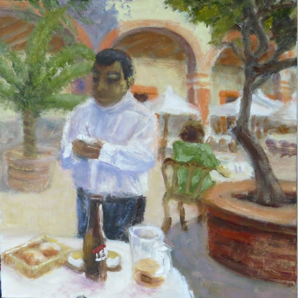 """Nachos and One More Leon Please"" original fine art by Richard Kiehn"