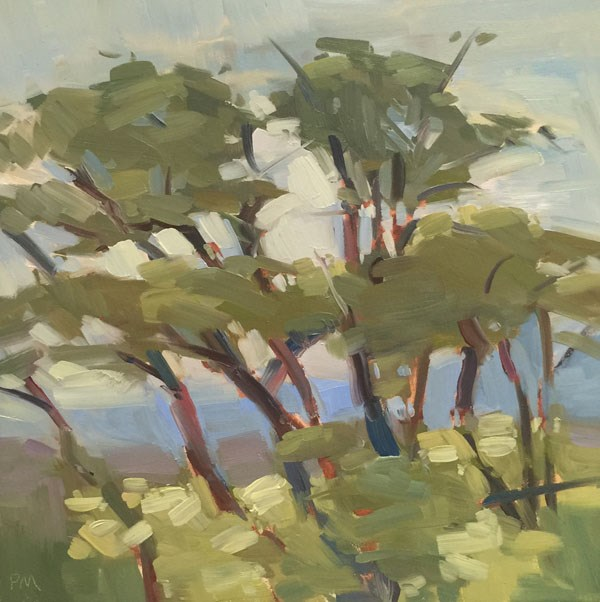 """Trees in the Breeze"" original fine art by Patti McNutt"
