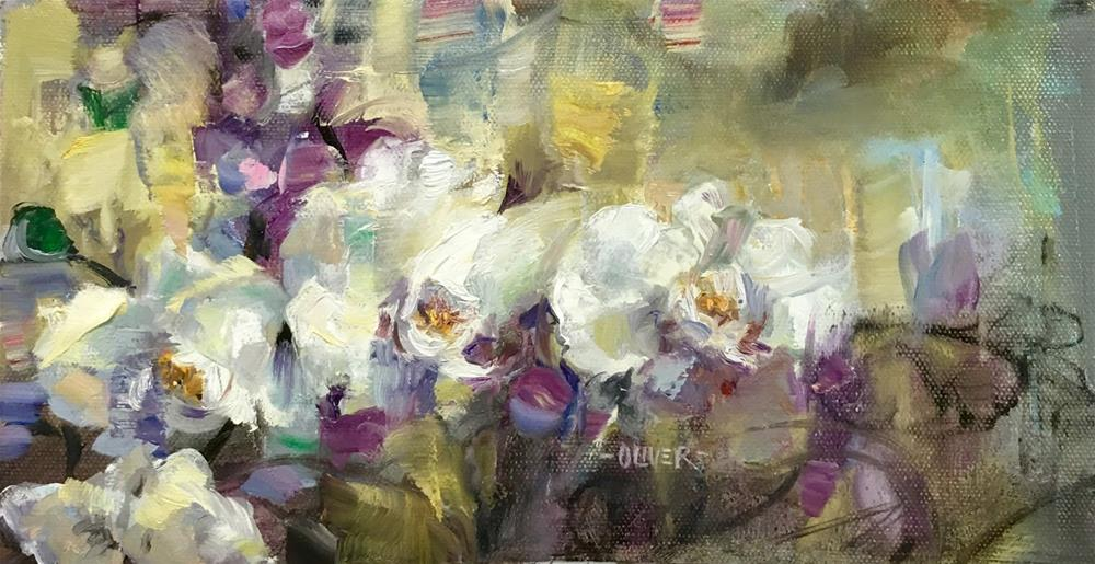 """Orchids"" original fine art by Julie Ford Oliver"