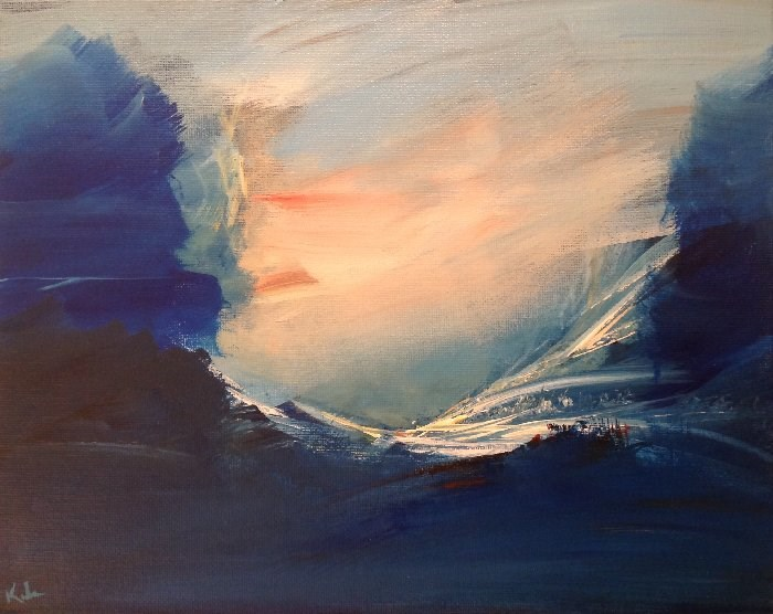 """Of Sleep Or Wake"" original fine art by David Kuhn"