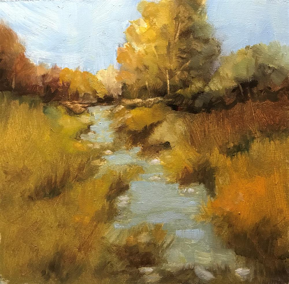 """little creek in the pasture"" original fine art by Betty Argiros"