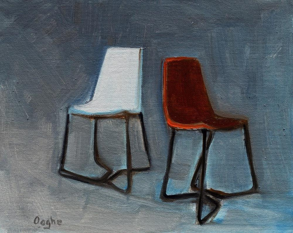 """""""Two Chairs"""" original fine art by Angela Ooghe"""