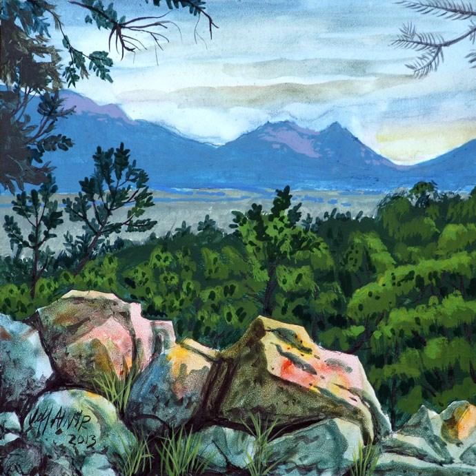 """""""Buena Vista - Vista"""" original fine art by Jeff Atnip"""