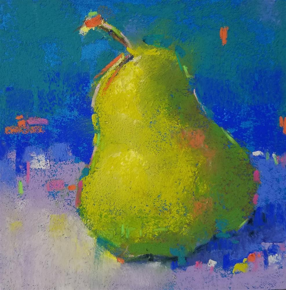 """""""Pear-a-gon Number 16 with glass"""" original fine art by Cindy Haase"""