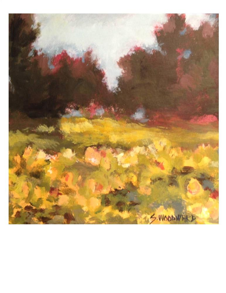 """Sunflower Field"" original fine art by Suzanne Woodward"