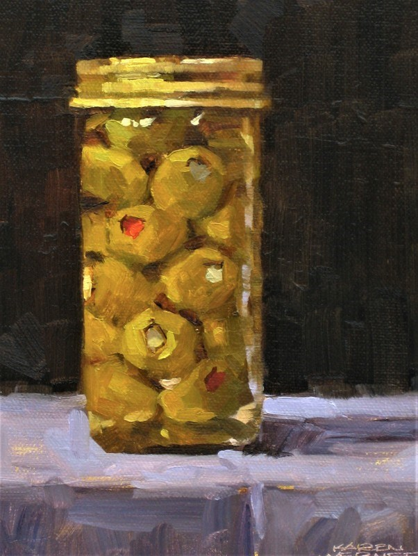 """Spanish Olives"" original fine art by Karen Werner"