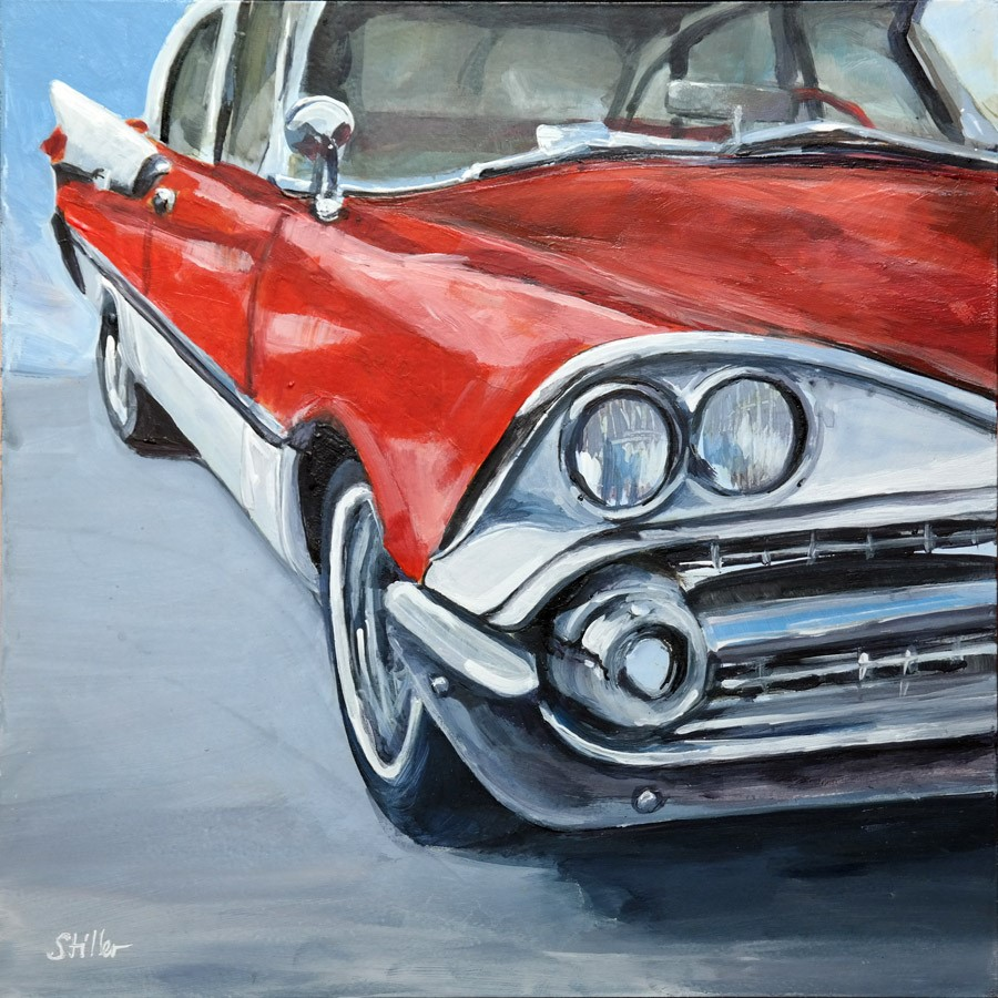 """2695 Dodge Coronet"" original fine art by Dietmar Stiller"