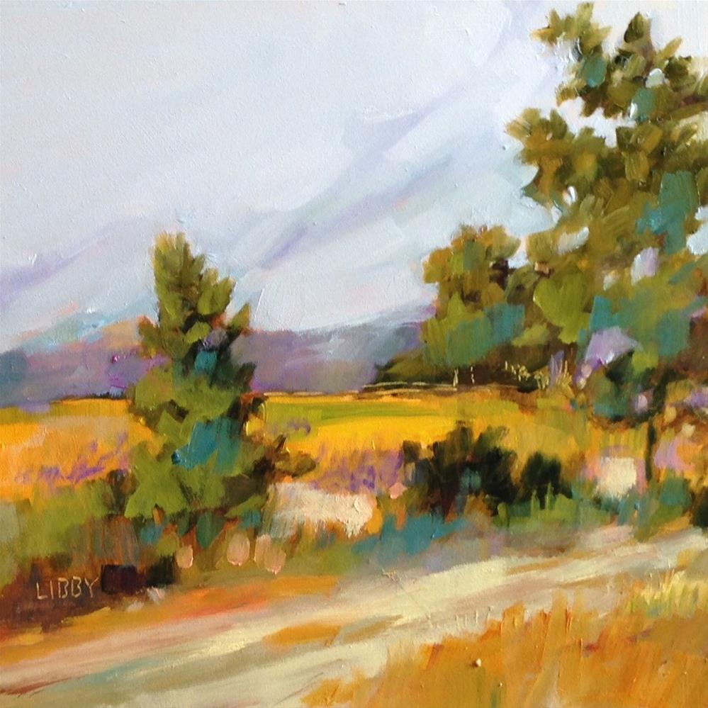 """""""Mountain Road"""" original fine art by Libby Anderson"""