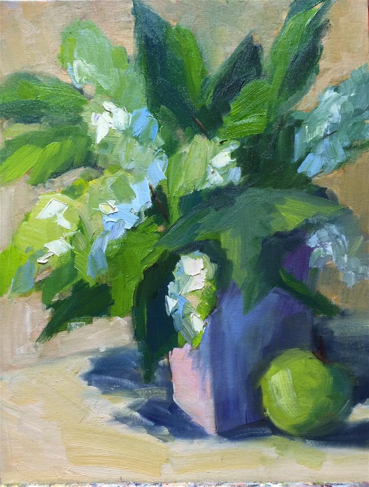 """Greens"" original fine art by Naomi Bautista"