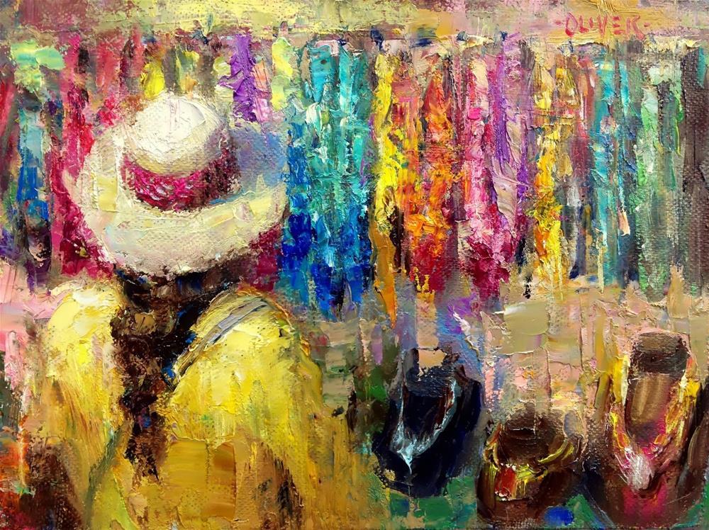 """""""Farmers Market #10"""" original fine art by Julie Ford Oliver"""