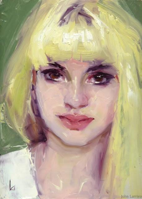 """Yellow Hair"" original fine art by John Larriva"