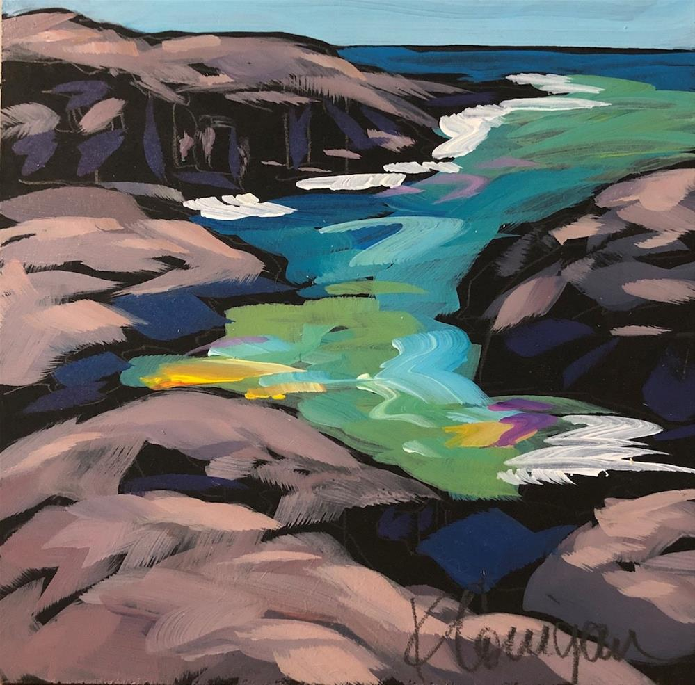 """Sky Seeks Water"" original fine art by Kat Corrigan"