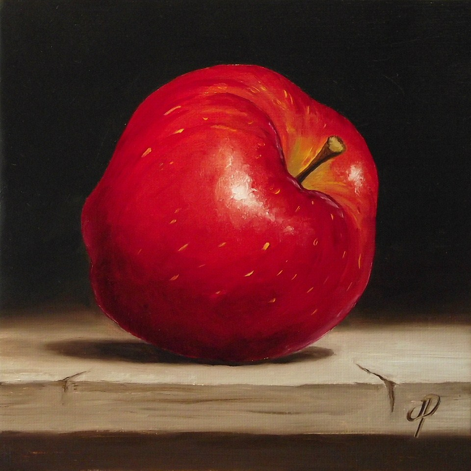 """Red Delicious #2"" original fine art by Jane Palmer"