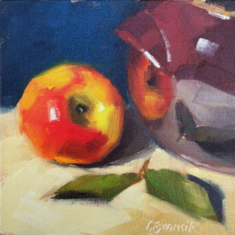 """Apple Casserole"" original fine art by Candace Brancik"
