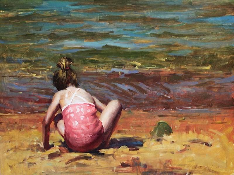"""""""Summer in Tahoe"""" original fine art by Fongwei Liu"""