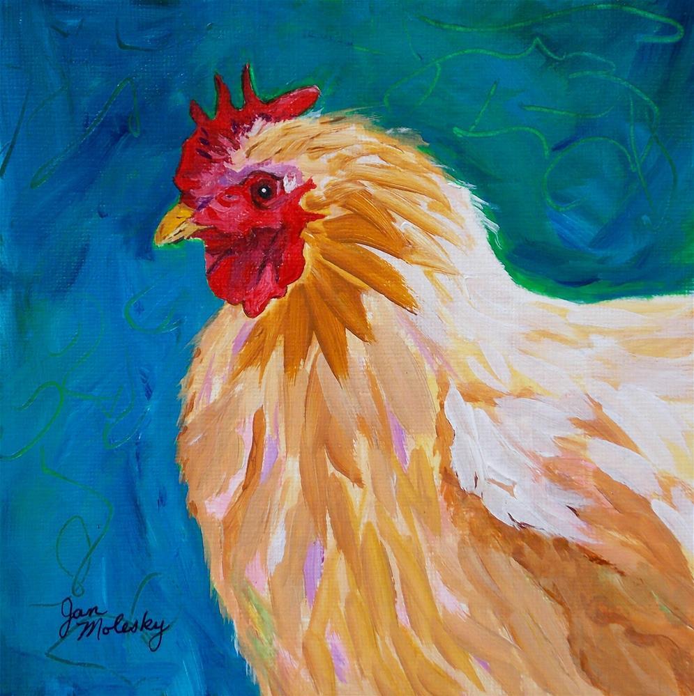 """Chuck"" original fine art by Jan Molesky"