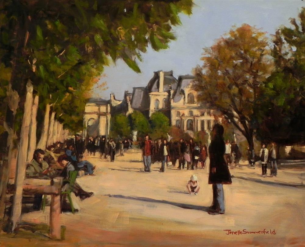 """""""Louvre Courtyard"""" original fine art by Jonelle Summerfield"""