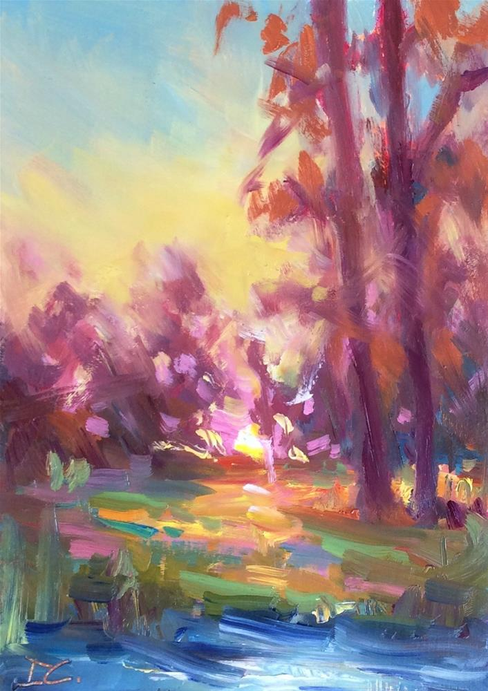 """MORNING SUN"" original fine art by Doug Carter"