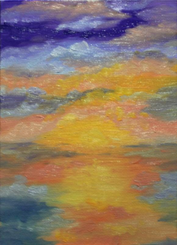 """In the Beginning"" original fine art by Jean Nelson"
