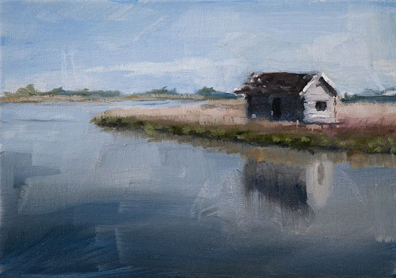 """The Old Boathouse"" original fine art by Clair Hartmann"