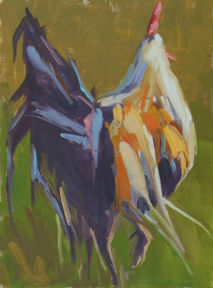 """retreat"" original fine art by Carol Carmichael"