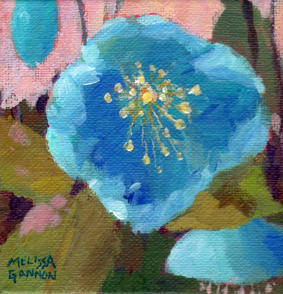 """Blue & Hellebore"" original fine art by Melissa Gannon"