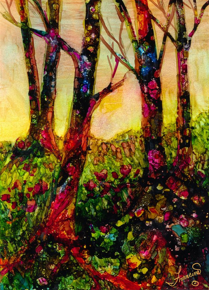 """A Forest of Many Layers"" original fine art by Francine Dufour~Jones"