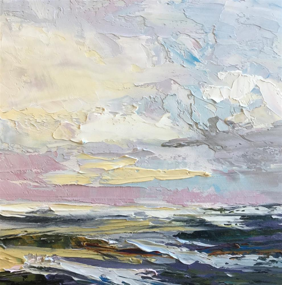 """""""Abstract Seascape 8"""" original fine art by Charlotte Fitzgerald"""