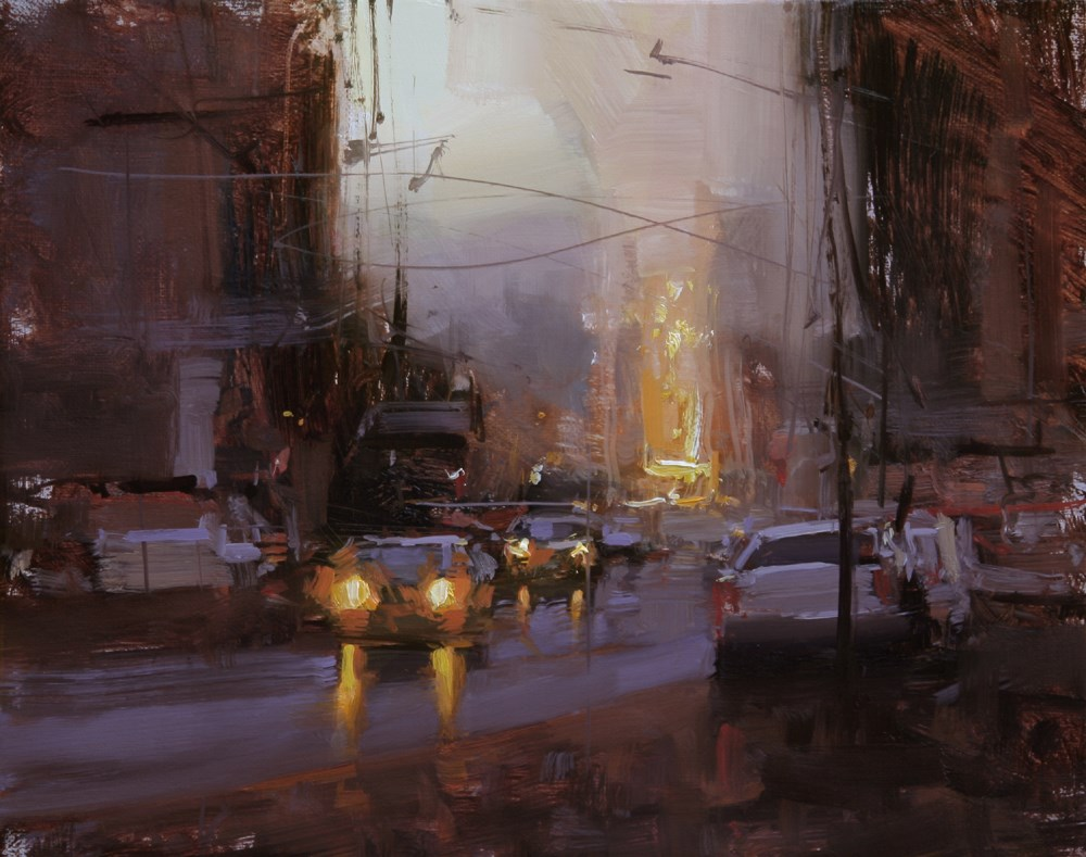 """Twilight Study"" original fine art by Tibor Nagy"