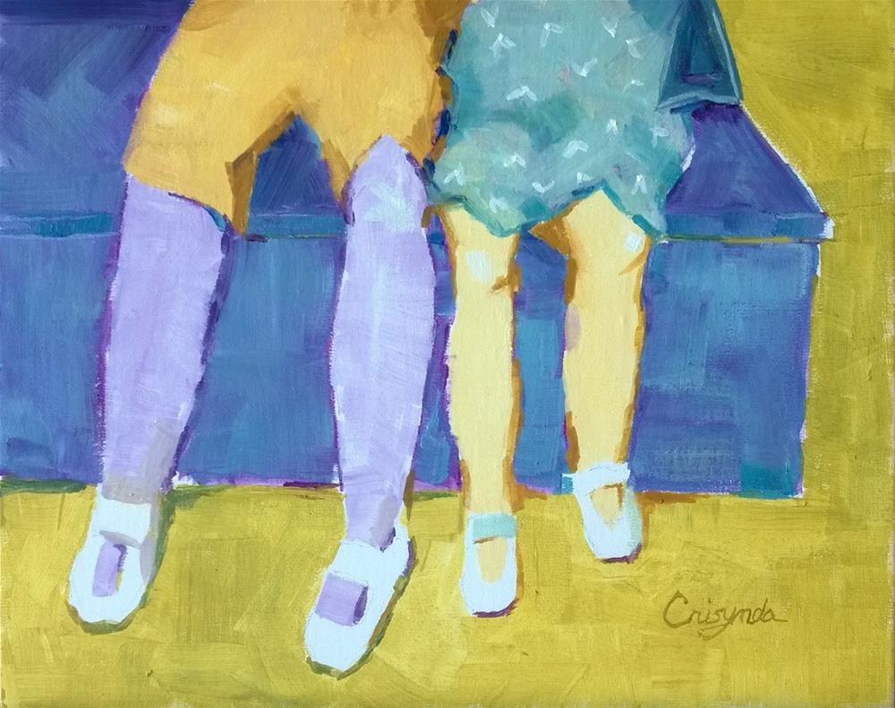 """What's the color of friendship?"" original fine art by Crisynda Buss"