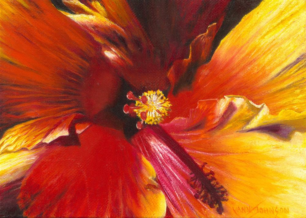"""Ablaze"" original fine art by Wendi Vann Johnson"