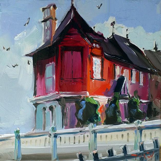 """Haus in Villers-sur-Mer"" original fine art by Jurij Frey"