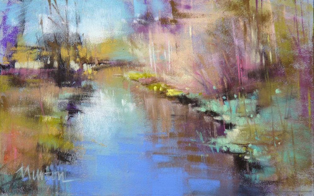 """Autumn Creek"" original fine art by Barbara Benedetti Newton"