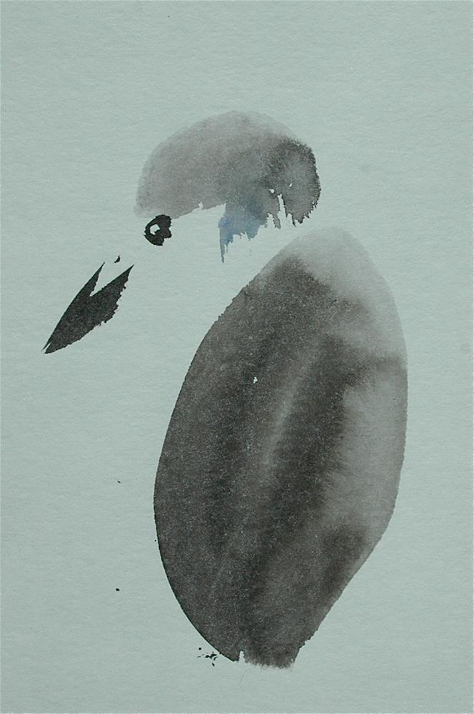 """Kingfisher"" original fine art by Ulrike Schmidt"