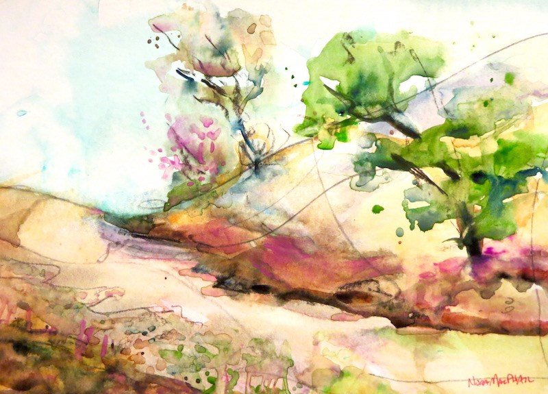 """""""the road less travelled"""" original fine art by Nora MacPhail"""