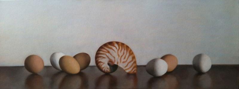 """Eggs and Shell"" original fine art by Megan Schembre"