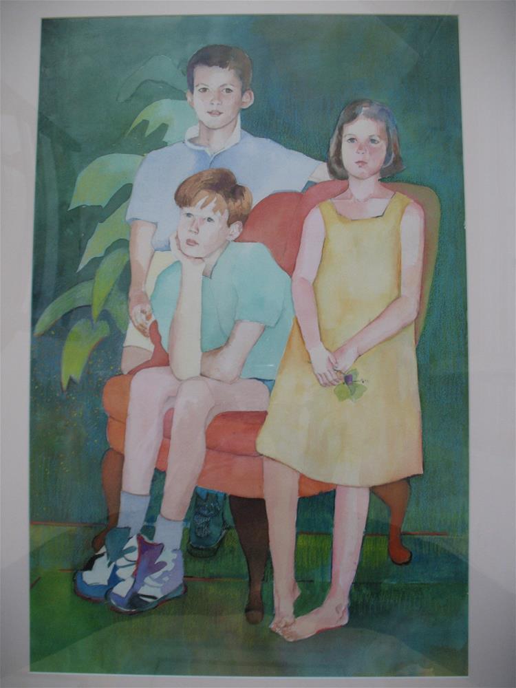 """murray kids"" original fine art by meribeth coyne"