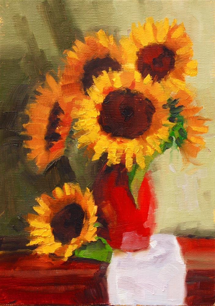 """Farmer's Market Sun Flowers 2"" original fine art by Susan McManamen"