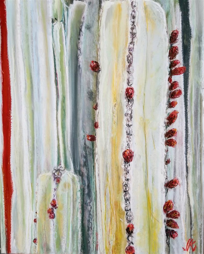 """Mexican Fence Post - Pachycereus marginatus"" original fine art by Jean Krueger"