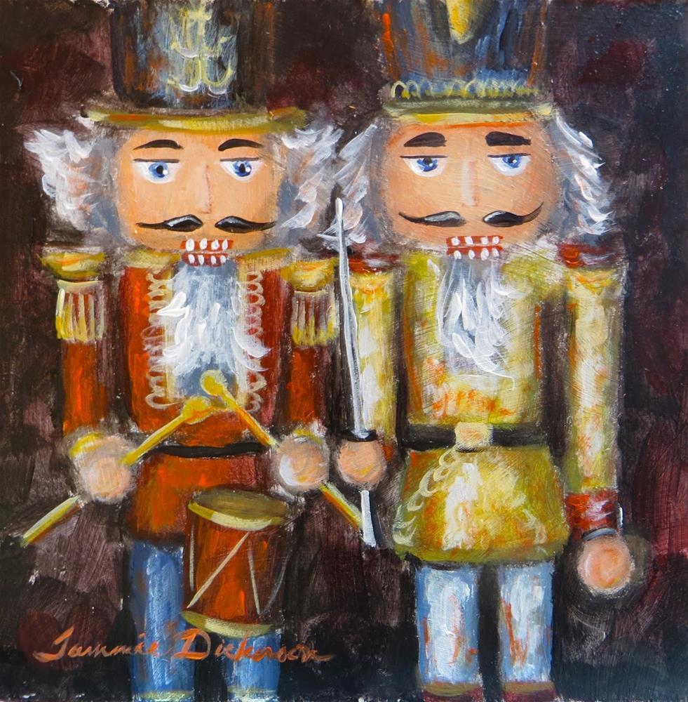"""""""Golden Knight & Drummer"""" original fine art by Tammie Dickerson"""
