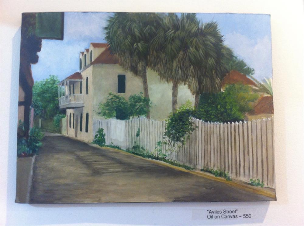 """""""Aviles street- oldest street in America"""" original fine art by Paulo Jimenez"""