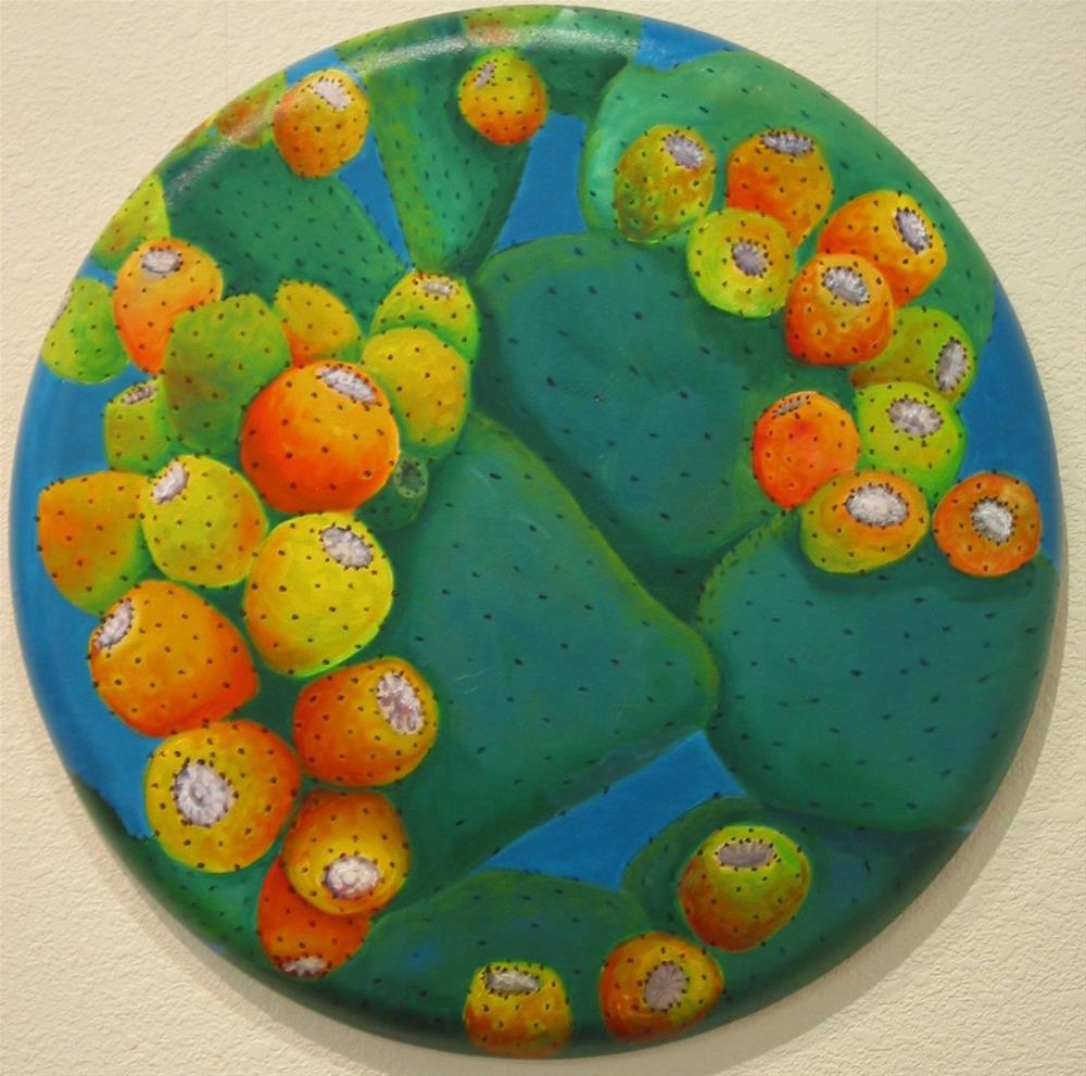 """Indian Pear Cactus"" original fine art by Patricia Murray"