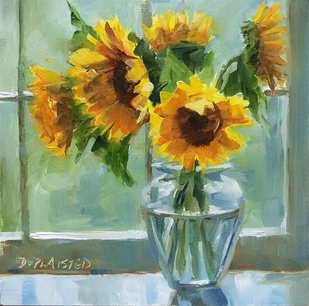 """Windowsill Bouquet"" original fine art by Diane Plaisted"