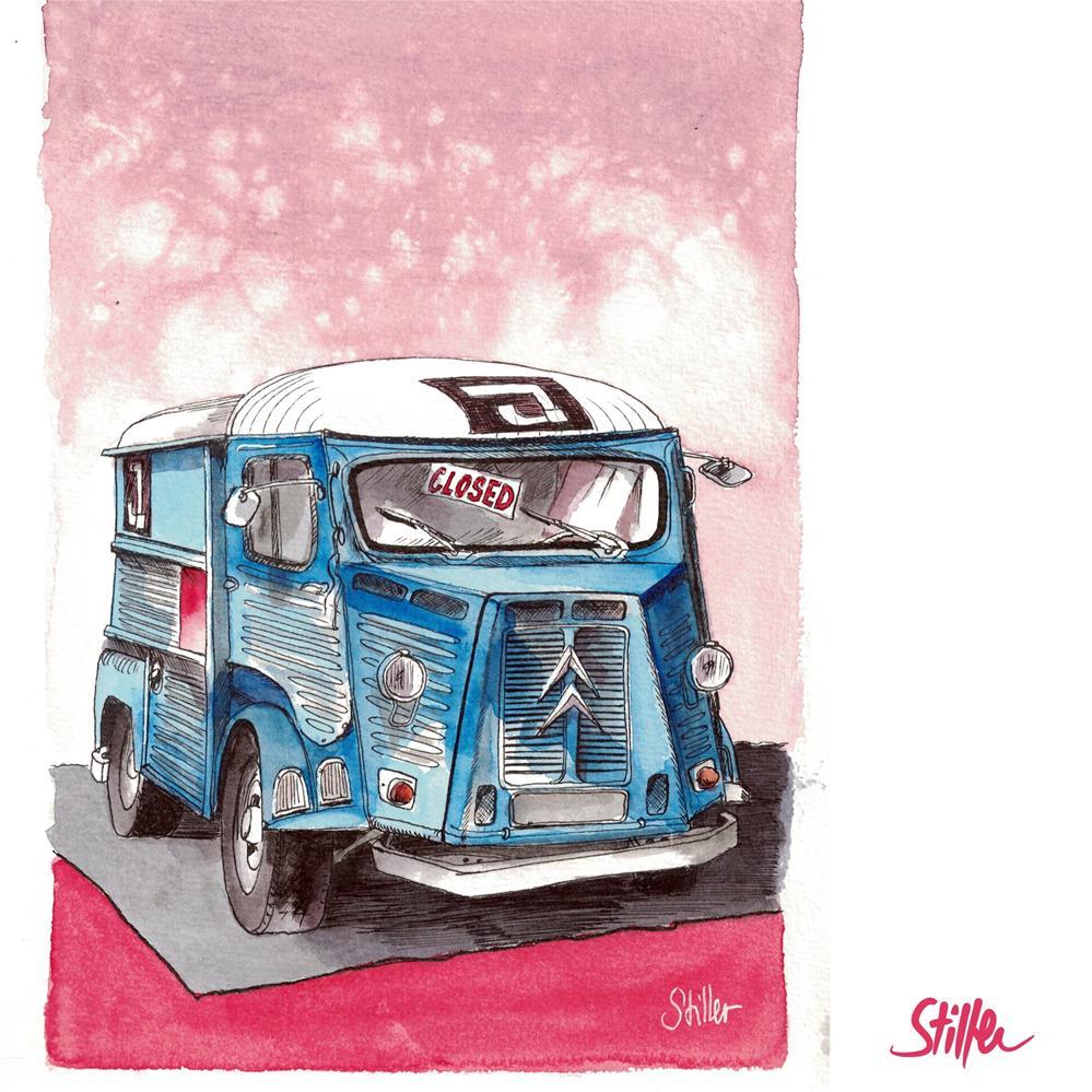 """""""3582 Citroën Truck"""" original fine art by Dietmar Stiller"""