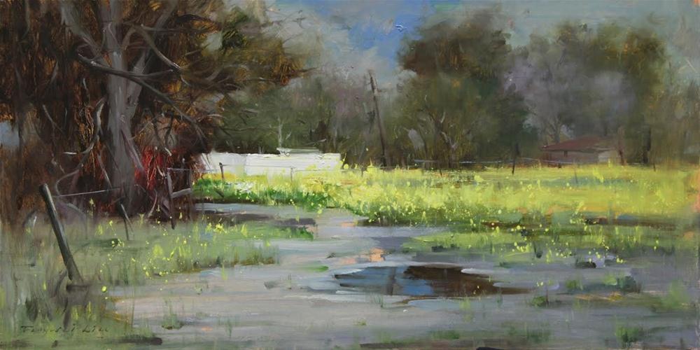 """Early Spring - Morgan Hill"" original fine art by Fongwei Liu"
