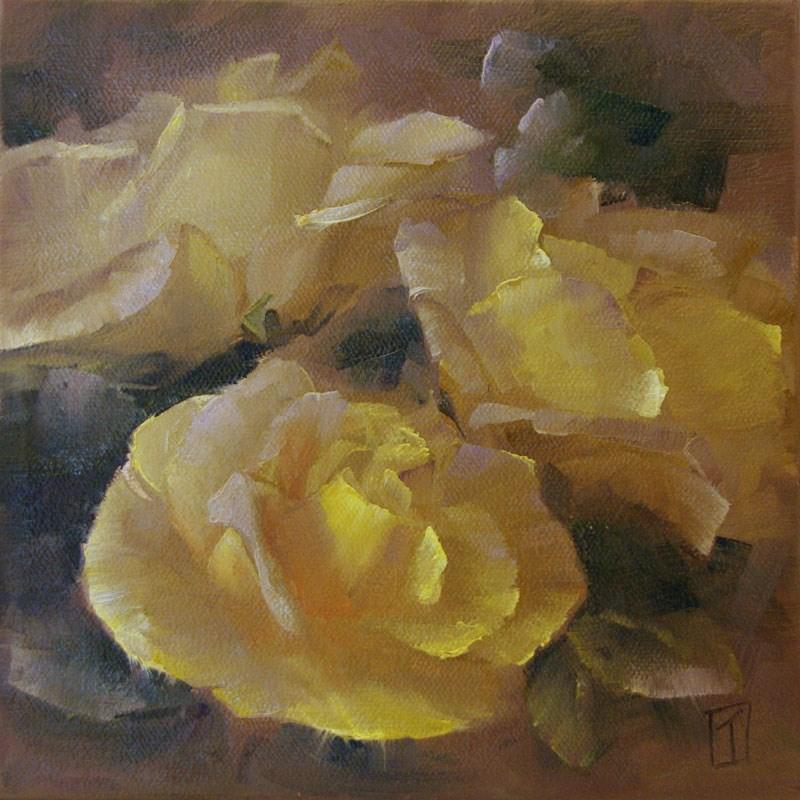 """Yellow Rose Study 1"" original fine art by Lori Twiggs"