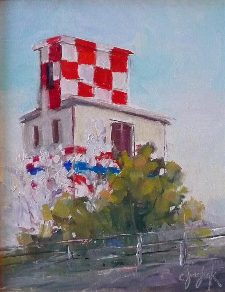 """Purina Building"" original fine art by Carol Josefiak"