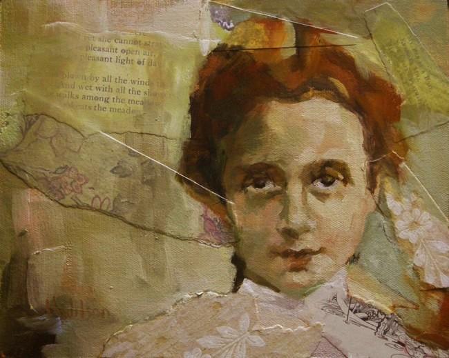 """Flower Hair Ribbon"" original fine art by Katie Wilson"