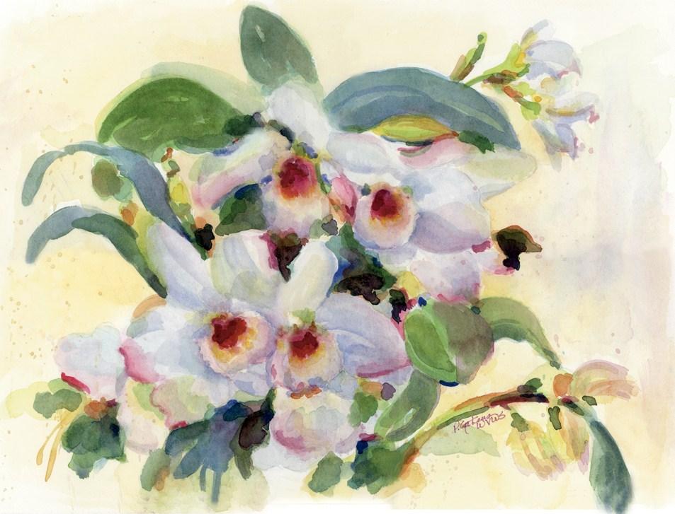 """Orchid Jungle"" original fine art by Pamela Gatens"