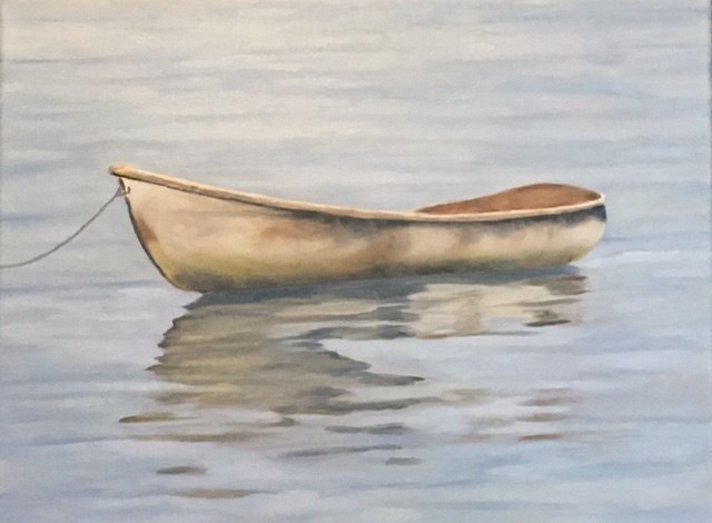 """Old Boat"" original fine art by Karen Collins"